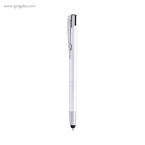 Bolígrafo puntero aluminio brillante blanco - RG regalos publicitarios