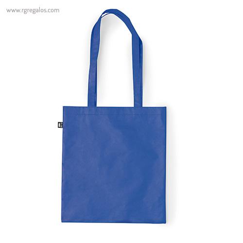Bolsa-RPET-laminada-mate-azul-RG-regalos-publicitarios