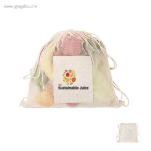 Bolsa algodón malla cuerdas bolsillo - RG regalos personalizados