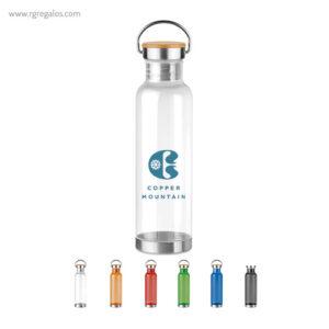 Botella de tritán tapón bambú - RG regalos promocionales
