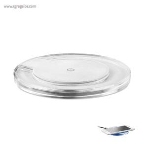Cargador inalámbrico con luz azul - RG regalos promocionales