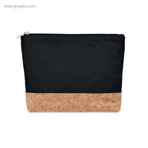 Neceser algodón y corcho negro - RG regalos publicitarios