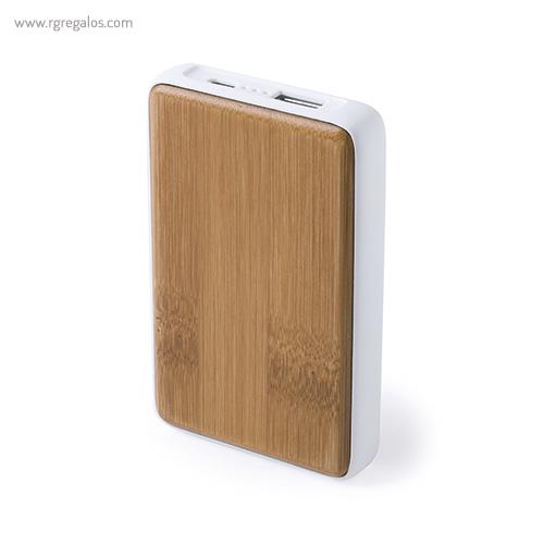 Power Bank de bambú 4000 mAh - RG regalos personalizados