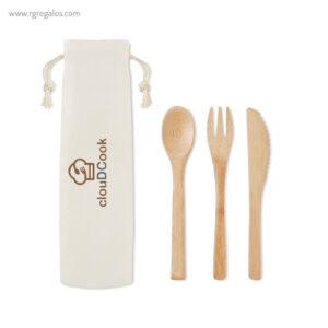 Set de cubiertos en bambú - RG regalos publicitarios