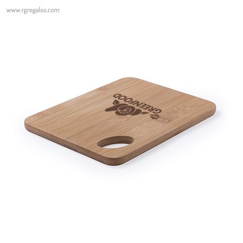 Tabla de cortar de bambú logo - RG regalos personalizados