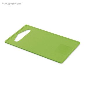 Tabla de cortar de fibra de bambú verde - RG regalos publicitarios
