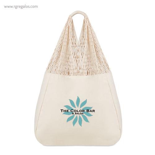 Bolsa algodón asas mallalogo - RG regalos publicitarios