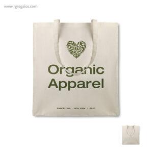 Bolsa algodón orgánico asas largas logo - RG regalos promocionales
