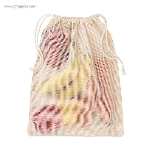 Bolsa rejilla algodón para comida - RG regalos ecológicos