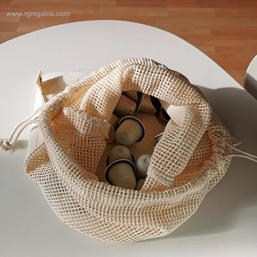 Bolsa rejilla algodón para comida - RG regalos de empresa
