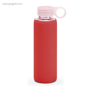 Botella con funda de silicona 380 ml roja - RG regalos publicitarios