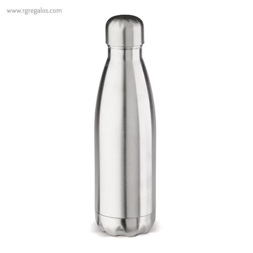 Botella de acero inox brillante mate de 500 ml gris - RG regalos publicitarios
