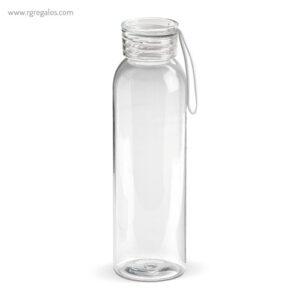 Botella de tritán con tapa de color 600 ml transparente- RG regalos publicitarios