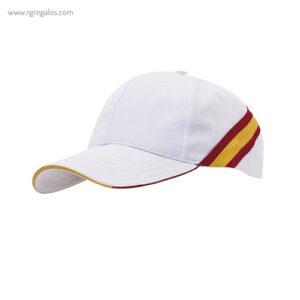 Gorra bandera de España blanca - RG regalos publicitarios