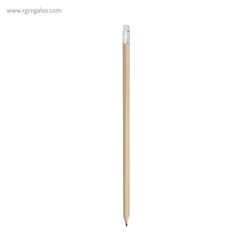 Lápiz madera acabado natural blanco - RG regalos publicitarios