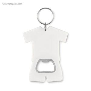 Llavero abridor camiseta blanco - RG regalos publicitarios