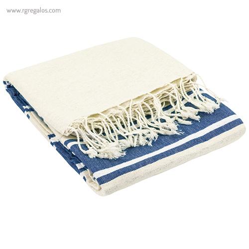 Pareo toalla de algodón orgánico azul - RG regalos publicitarios