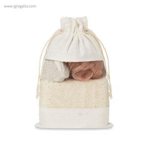 Set baño 3 piezas con bolsa de yute - RG regalos publicitarios