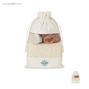 Set baño 3 piezas con bolsa yute - RG regalos publicitarios
