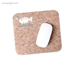 Alfombrilla corcho para ratón base silicona - RG regalos personalizados