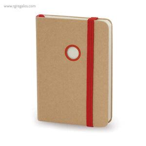 Bloc cartón con troquel rojo - RG regalos publicitarios