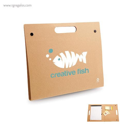 Carpeta ecológica con accesorios RG regalos personalizados