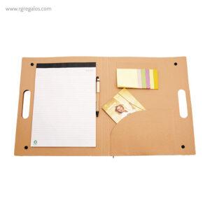 Carpeta ecológica con accesorios interior- RG regalos de empresa