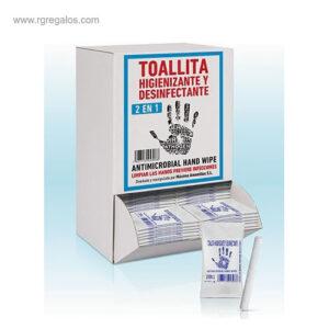 DISPENSADOR DE 125 TOALLITAS HIGIENIZANTES - RG regalos de empresa
