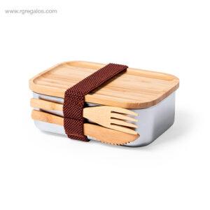 Fiambrera-acero-inox-bambú-RG-regalos