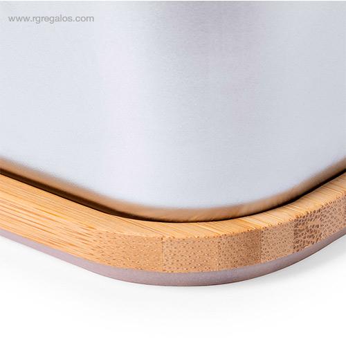 Fiambrera-acero-inox-bambú-detalle-RG-regalos