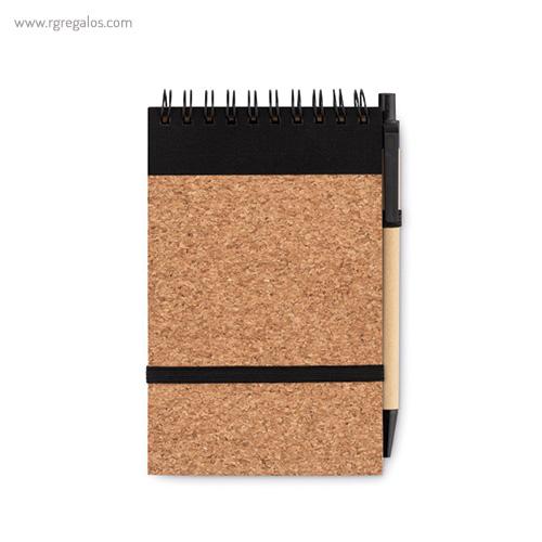Libreta de corcho y papel reciclado A5 interior - RG regalos promocionales