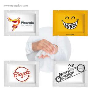 Toallitas manos alcoholgel monodosis - RG regalos de empresa