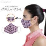 Mascarilla personalizada reutilizable con varilla nasal - RG regalos publicitarios