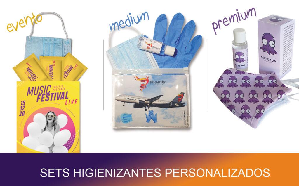 Sets higienizantes personalizados - RG regalos