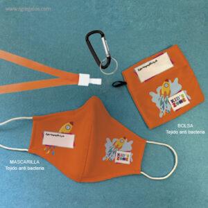Mascarilla personalizada con bolsa - RG regalos