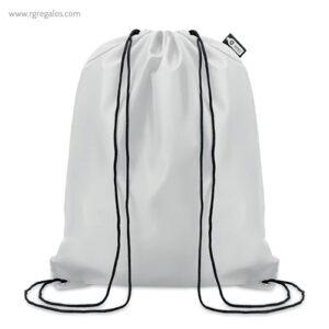 Mochila saco de RPET 190T blanca - RG regalos publicitarios