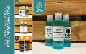 Gel hidroalcohòlic amb etiqueta personalitzada - RG regals