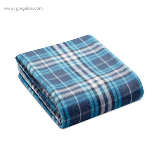 Manta polar en RPET azul - RG regalos de empresa