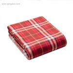 Manta polar en RPET roja - RG regalos de empresa