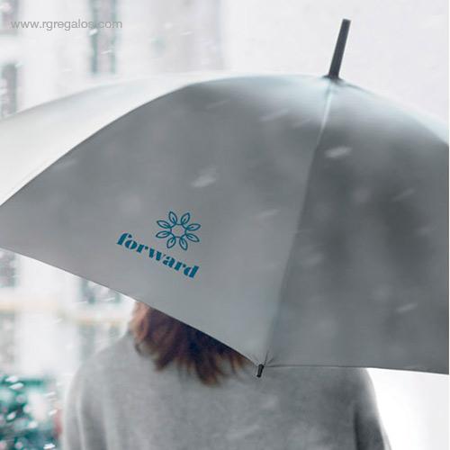Paraguas poliéster reflectante detalle - RG regalos