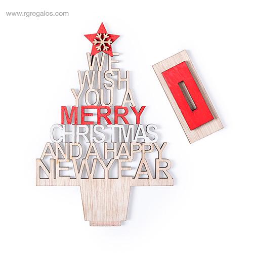 Árbol navidad madera base desmontable - RG regalos