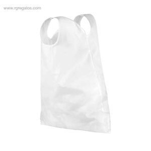Bolsa RPET plegable 210D blanca - RG regalos publicitarios