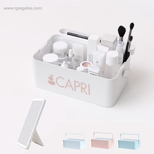 Caja maquillaje espejo luz - RG regalos publicitarios