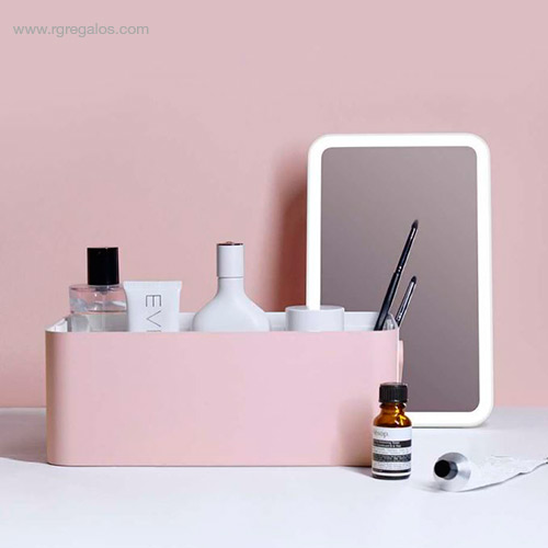 Caja maquillaje espejo luz - RG regalos