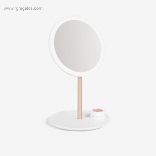 Espejo luz maquillaje viaje blanco - RG regalos