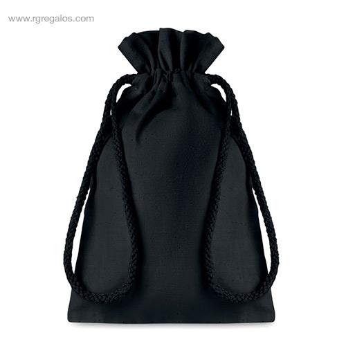 Bolsa algodón negra para regalo pequeña - RG regalos
