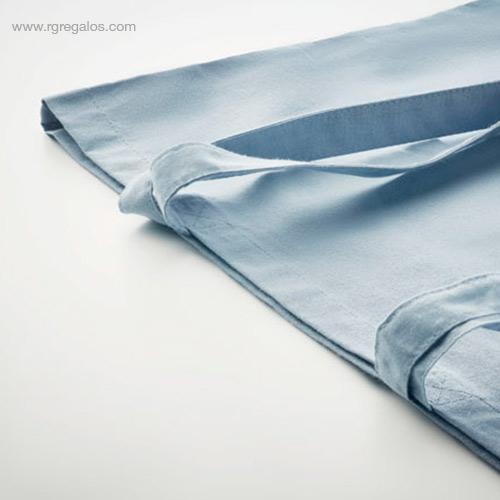 Bolsa-algodón-orgánico-colores-azul-detalle-RG-regalos