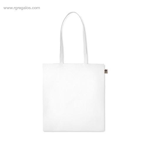 Bolsa algodón orgánico colores blanca asas largas - RG regalos