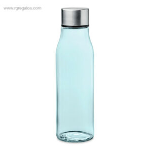 Botella de cristal 500 ml azul transparente - RG regalos publicitarios