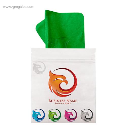 Gamuzas-antivaho-personalizada-verde-RG-regalos-personalizados